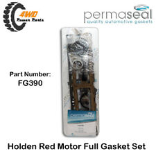 Holden 1 Ton Tray HJ HQ HX HZ 6 Cyl Red Full Gasket Set Rubber Rear Main Seal