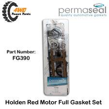 Holden 6 173 202 Red Motor Full Gasket Set Rubber Rear Main Permaseal FG390