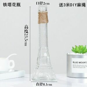 Glass Vases Living Room Table Decoration Transparent Water Hydroponics Flower