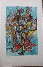 Aristide CAILLAUD Lithographie signée numérotée lithograph 1965 art brut naïf **