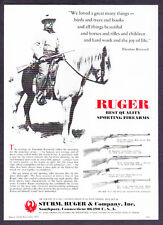 Theodore Roosevelt on Horse 1977 Ruger M-77 44 Magnum 10/22 Rifle photo print ad