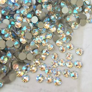 Swarovski Glue on <Choose Size> Crystal Shimmer effect Rhinestones Diamantes gem