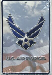 U. S. Air Force Metal Sign Aluminum Parking Plaque NEW Embossed USAF Armed Force