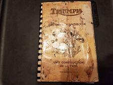 Triumph Owner's Handbook Unit Construction 650cc Twin Engine DU.101