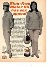 1967 LIANE ENGEMAN & ANITA TAYLOR / FORMULA RACING - ORIG RING FREE PRINT AD