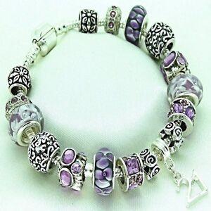 Womens Jewellery Purple Bracelet 16th 18th 21st 30th 40th 50th BIRTHDAY Gifts