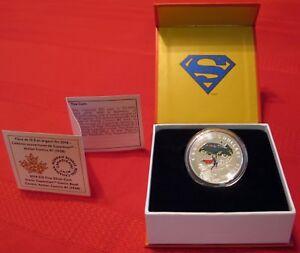 2014 $10 Superman 99.99% Pure Silver Coin, Action Comics #1 (1938), CANADA, RCM