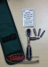 2007-2017 Jeep® Wrangler Hard Soft Top Door Removal Install Tool Kit OEM Mopar