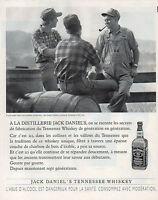 Publicité Advertising 1996  WHISKY  JACK DANIEL'S  boisson apéritif  ...