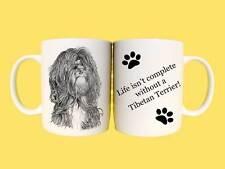 Tibetan Terrier Dog Ceramic Mug Gift with Choice of 7 captions