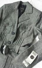 Women's MNG Mango Suit Jacket Linen Grey color sizeUK 8 / EU 36 BNWT