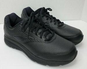 Brooks Addiction Walker 2 Mens Size 10 Extra Wide 4E Black Leather Comfort Shoes