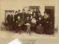 France, Le Sappey , Photo de groupe  Vintage albumen print.  Tirage albuminé