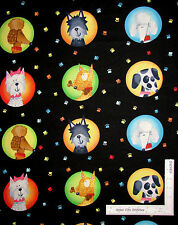 Dog Poodle Dalmatian Paw Print Cotton Fabric Red Rooster 26336 Dogs World - Yard