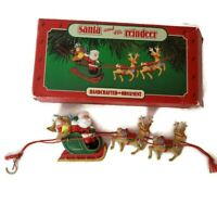 Hallmark Keepsake Ornament Santa and His Reindeer 1986 Vintage Christmas Tree