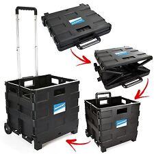 25kg Folding Cart Wheeled Trolley Shopping Luggage Storage Foldable Boot Box
