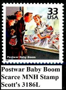 Postwar Baby Boom by Norman Rockwell MNH Stamp Scott's 3186L