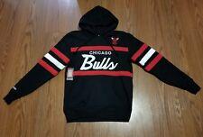 NWT CHICAGO BULLS Mitchell Ness NBA Head Coach HOODY Sweatshirt sz large