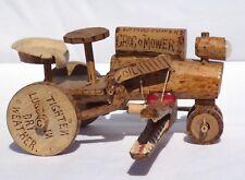 "Wonderful, hand made folk art mechanical toy. The ""Croc o Mower""."