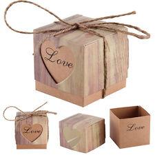 50pcs Boîte à Dragées Love Coeur bonbons Chocolat pour Fête Mariage Baptême
