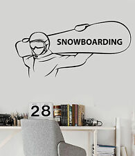 Vinyl Wall Decal Snowboarding Extreme Sports Snowboarder Stickers (ig4668)