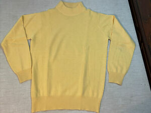 Ballantyne Pure Cashmere Pullover Yellow Sweater Made in Scotland - Size 36 M