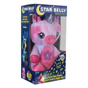 Star Belly Dream Lites Unicorn Night Light Plush Pink/Purple SBPU-MC4