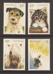 AUSTRALIA 1991 SG1299/1302 Domestic Pets MNH (JB18562)