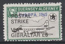 Cinderella 6635 - 1971 ALDERNEY AIRCRAFT opt'd POSTAL STRIKE VIA GIBRALTAR £5