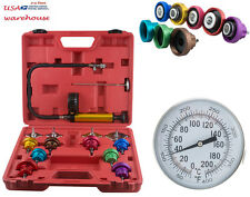 14PC Radiator Pressure Tester Kit Car Leak Detector Auto Cooling System Test Set