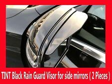 PAIR of Universal Tint Black Side Mirror Rain Snow Guards Sun Visors for Aston