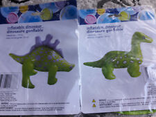 "2 X Inflatable DINOSAURS (2 different kinds) // Size(s): 12.5"" and 14"" //"
