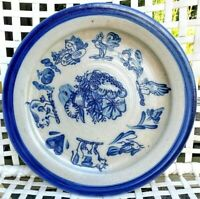 """ROWE POTTERY WORKS SALT GLAZED LRG PLATE CHARGER Collector's Design EUC 15"""" DIA."""