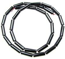 Strang 64 cm schwarze runde Röhren Bugle Zylinder Stab Stift 12 X 5,5 mm