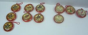 12 days of Christmas ornaments Paper Mache Kathleen M Harte Replacements 2 3/4""