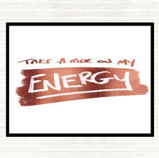 Rose Gold Take A Ride On Energy Quote Mouse Mat Pad