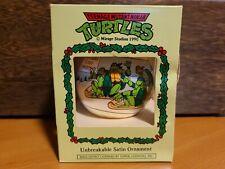 New ListingVintage Teenage Mutant Ninja Turtles 1990 Satin Unbreakable Christmas Ornament