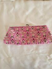 Pink Beaded Clutch Bag