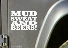 MUD SWEAT BEER STICKER,  LAND ROVER,  4x4 Off Road, Funny, Novelty GAS MONKEY