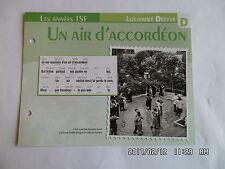 CARTE FICHE PLAISIR DE CHANTER LUCIENNE DELYLE UN AIR D'ACCORDEON