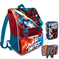 Avengers Zaino piu Astuccio tre Zip completo Scuola Marvel 8435333872789
