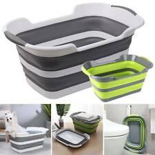 Wash Clothes Laundry Basket Toy Plastic Bag Basket Storage Bag Box Drain Hole