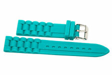 20MM TEAL SILICONE JELLY RUBBER SPORT WATCH BAND FITS FOSSIL RILEY
