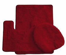 3 Piece Luxury Acrylic Bath mat set Made with 100% Polypropylene (Burgundy )