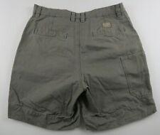 Columbia Mens Cotton Beige Outdoor Hiking Khaki Chino Shorts Tag 32 Measured 31