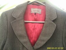 JAEGER SIZE 10 WOMENS WOOL CHECK JACKET