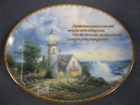 Light In The Storm Collector Plate Guiding Lights Thomas Kinkade Lighthouse