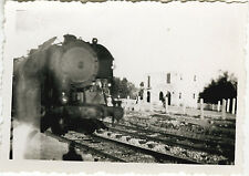 PHOTO ANCIENNE - VINTAGE SNAPSHOT - TRAIN LOCOMOTIVE NICE 1947