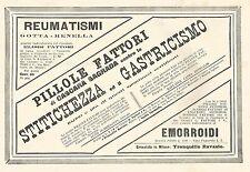 Y2137 Pillole Fattori di Cascara Sagrada - Pubblicità del 1903 - Old advertising