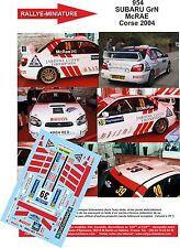 DÉCALS 1/18 réf  954 SUBARU GrN McRAE Corse 2004
